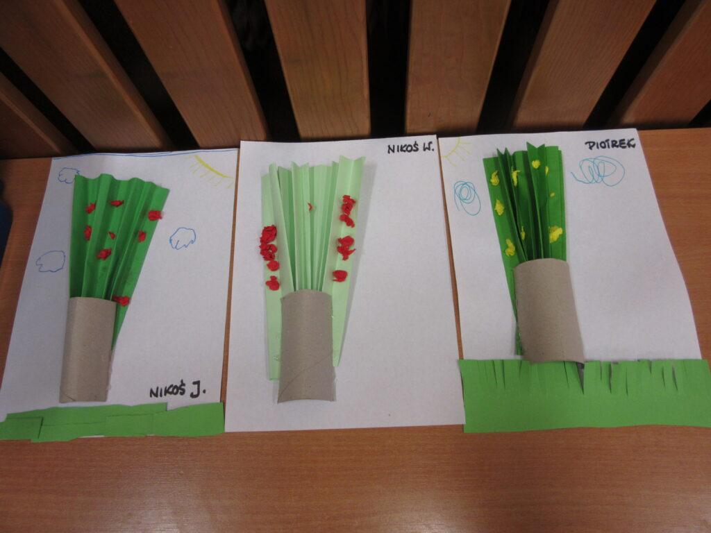 Praca plastyczna - wiosenne drzewo