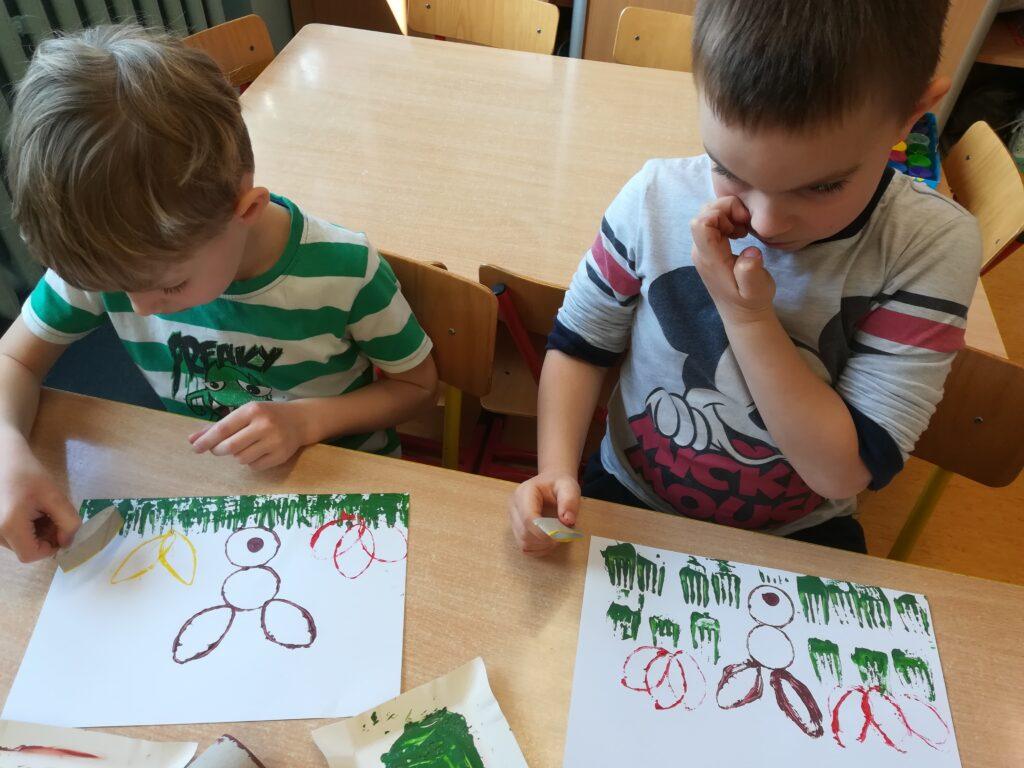 Praca plastyczna dzieci - Wiosenne zajaczki.