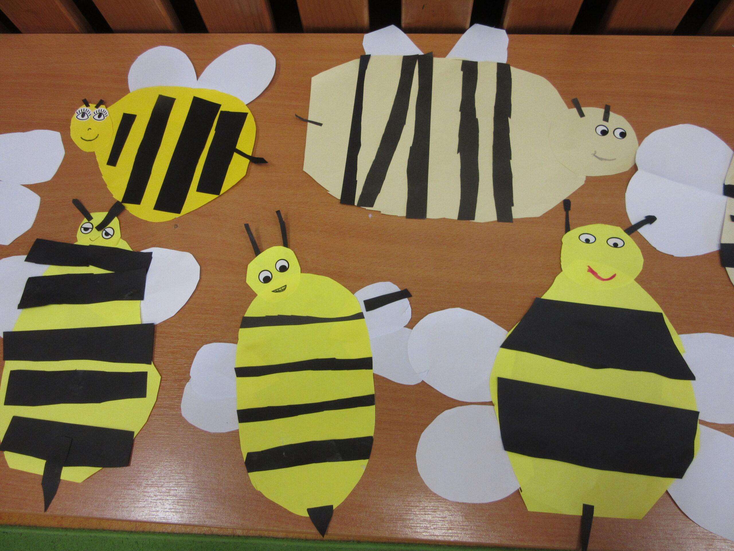Praca plastyczna - Pszczółki.