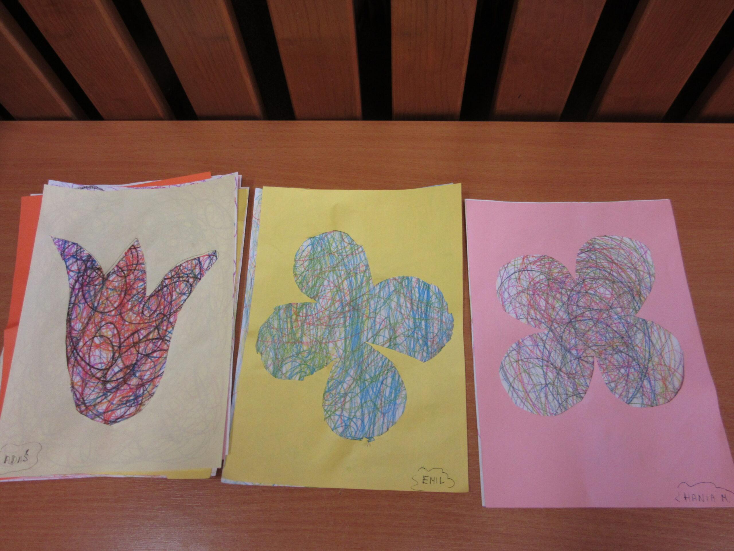 Praca plastyczna -Kwiatek.